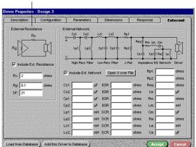 外部串联电阻对音箱性能的影响