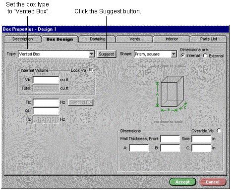 BassBox开口箱设计之箱体属性设置